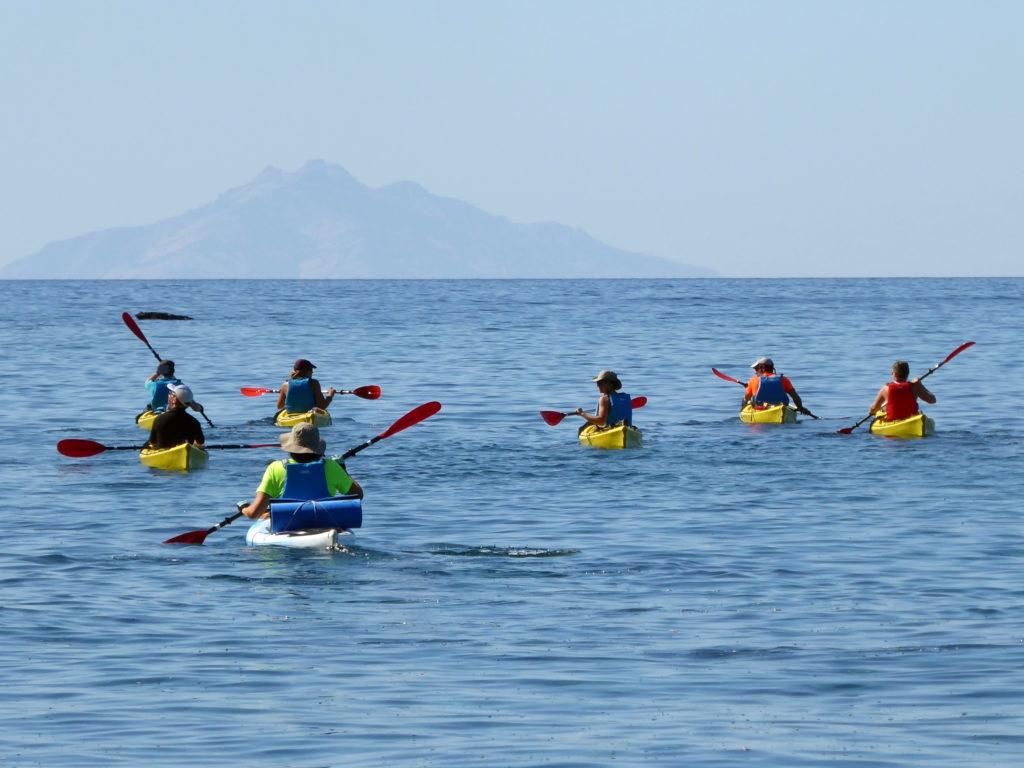 giro isola in kayak